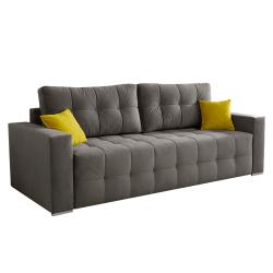 Pohovka Big sofa, hnedá/horčicová, AGIL