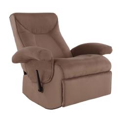 Relaxačné kreslo, s elektrickou funkciou vibrovania, hnedá látka, SUAREZ
