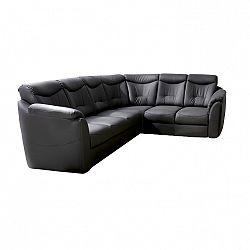 Rozkladacia sedacia súprava, čierna, MERLIN