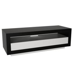 RTV stolík, čierna/biela, AGNES