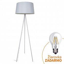 Stojacia lampa, matná biela, MILANO WA004-W