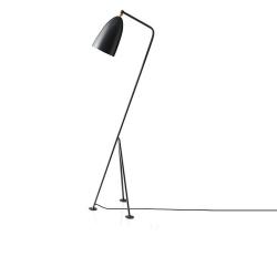 Stojacia lampa, sivý kov, CINDA TYP 25 YF6250-G