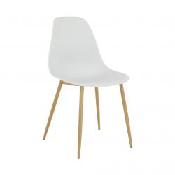 Stolička, biela/prírodná, SINTIA