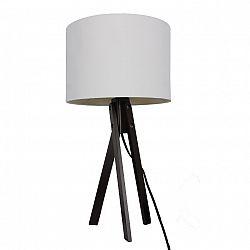 Stolná lampa, biela/drevo čierne, LILA TYP 4 LS2002
