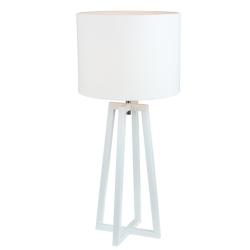 Stolná lampa, biela, QENNY 14 LT8074