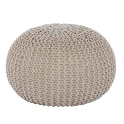 Taburet, bavlna smotanovobéžová, TAMAN TYP 2