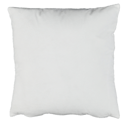 Vankúš, zamatová látka biela, 45x45, ALITA TYP 13