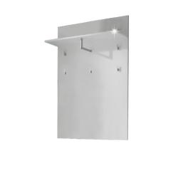 Vešiakový panel, biela extra vysoký lesk, SPACE