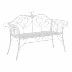 Záhradná lavička, biela, ETELIA