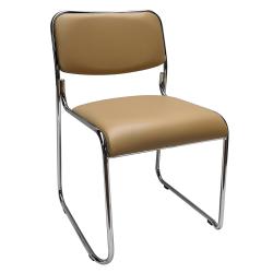 Zasadacia stolička, hnedá ekokoža, BULUT