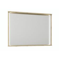 Zrkadlo, dub wellington/biela, LEIRA