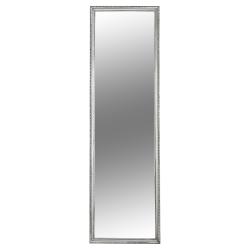 Zrkadlo, strieborný drevený rám, MALKIA TYP 3, poškodený tovar