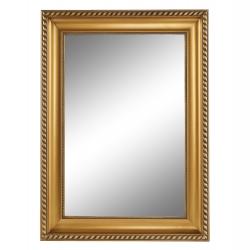 Zrkadlo, zlatý rám, MALKIA TYP 10, rozbalený tovar